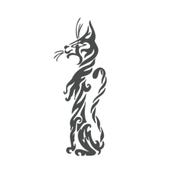 0037. Полосатая кошечка