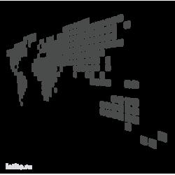 0047. Силуэт карты мира