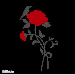 0087. Роза и птичка