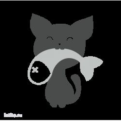 0224. Кот с рыбкой