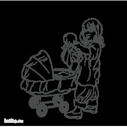 0298. Девочка с коляской