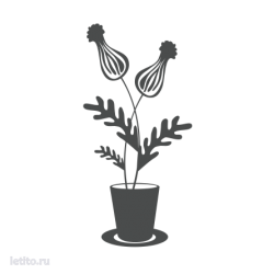 0356. Цветы в горшке