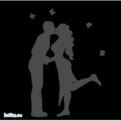 0366. Романтичная пара с бабочками