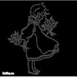 0387. Девочка с цветами