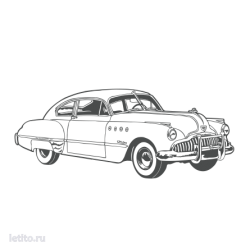 0407. Ретро автомобиль