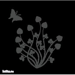 0628. Цветочный орнамент с бабочкой