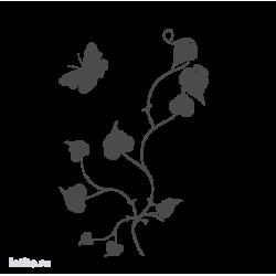 0629. Цветочный орнамент с бабочкой
