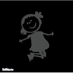 0635. Прыгающая девочка