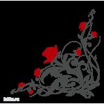 0662. Угловой узор с цветами