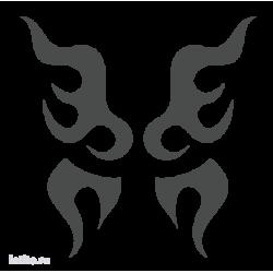 1651. Языки пламени в виде крыльев бабочки