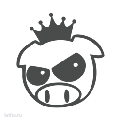 1861. Evil Rally Pig with Crown