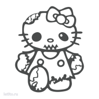1863. Hello Kitty Zombie