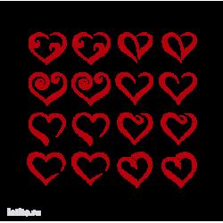 1925. Набор из 16 сердечек (8 вариантов)
