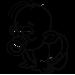 2009. Малыш с соской