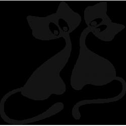 2018. Силуэт двух котов