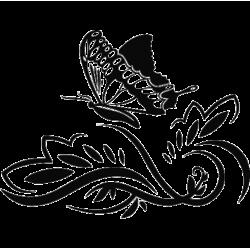 2243. Цветочный  орнамент с бабочкой