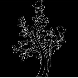 2248. Цветочный  орнамент с птичками