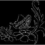 2284. Цветочный  орнамент с бабочкой