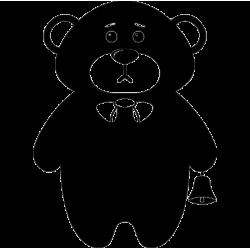 2761. Мишка с колокольчиком