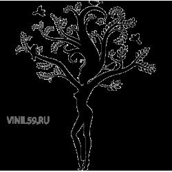 2776. Девушка дерево