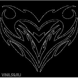 3005. Сердце. Кельтский орнамент