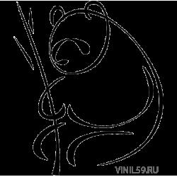 3013. Силуэт панды