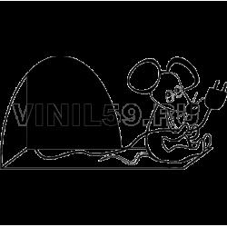 3067. Мышка с вилкой