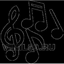 3181. Музыкальный ключ и ноты