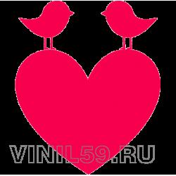 3676. Сердце и птички