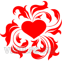3785. Сердечный орнамент