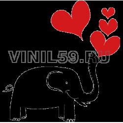 4799. Слон и сердечки