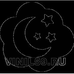 4840. Луна и звезды