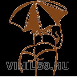 4993. Дама с зонтиком