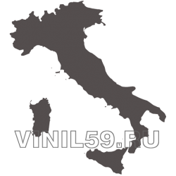 5041. Силуэт Италии