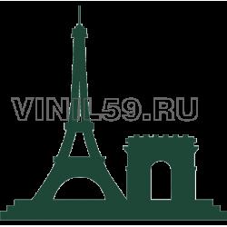 5077. Эйфелева башня и ворота Сен -Дени