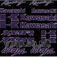 5169. Комплект наклеек на мотоцикл KAWASAKI