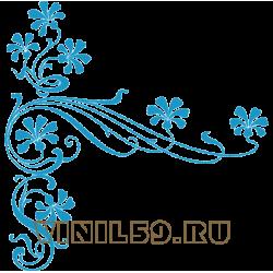 5515.  Васильковый орнамент