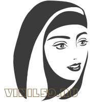 5632. Силуэт девушки мусульманки