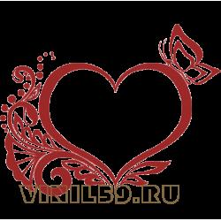 5669. Сердечный орнамент с бабочкой
