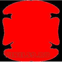 5870. Универсальная наклейка защитная для ручек авто