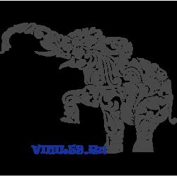 6025. Слон. Цветочный орнамент