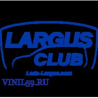 6150. Наклейка  Ларгус клуб