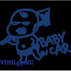 6206.  Ребенок в машине. Baby on CAR