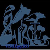 6244. Силуэты животных и птиц