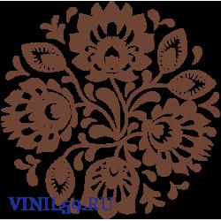 6330. Круговой цветочный  орнамент