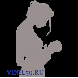 6339. Женский силуэт с ребенком