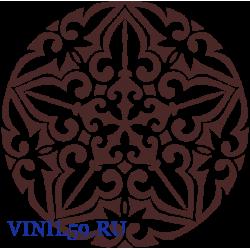 6456. Круговой цветочный  орнамент