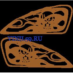 6501. Наклейка Череп на мото